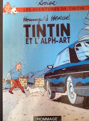 Couverture de l'album Tintin (Pastiches, parodies et pirates) - HS. Tintin et l´Alph-Art