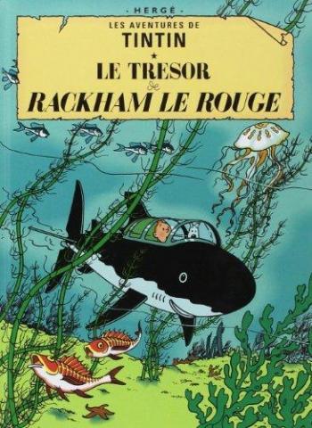Couverture de l'album Les Aventures de Tintin (Petit format) - 12. Le Trésor de Rackham le Rouge