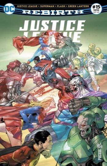 Couverture de l'album Justice League Rebirth (Urban Presse) - 15. Le corps des Green Lantern déchiré !