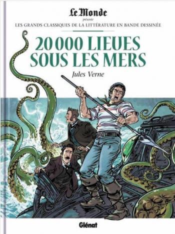 Couverture de l'album Les Grands Classiques de la littérature en BD - 34. 20 000 Lieues sous les Mers - Jules Verne