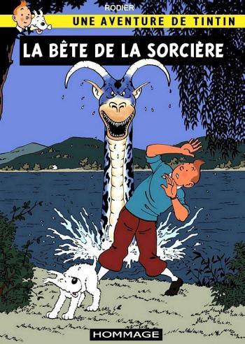 Couverture de l'album Tintin (Pastiches, parodies et pirates) - HS. La Bête de la sorcière