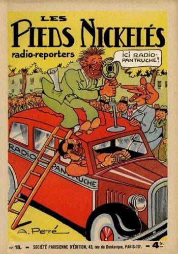 Couverture de l'album Les pieds Nickelés (2e série - 1929-1940) - 18. Les Pieds Nickelés radio-reporters