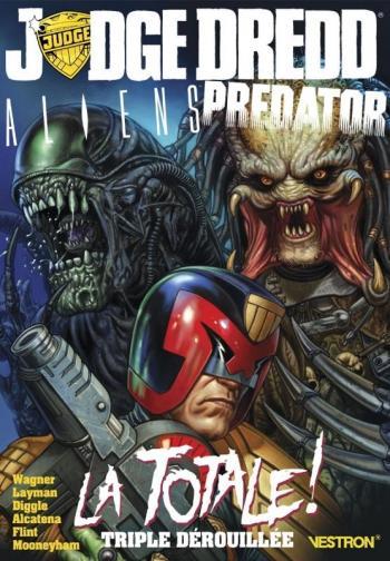 Couverture de l'album Vestron - 3. Judge Dredd / Aliens / Predator: La Totale ! Triple dérouillée
