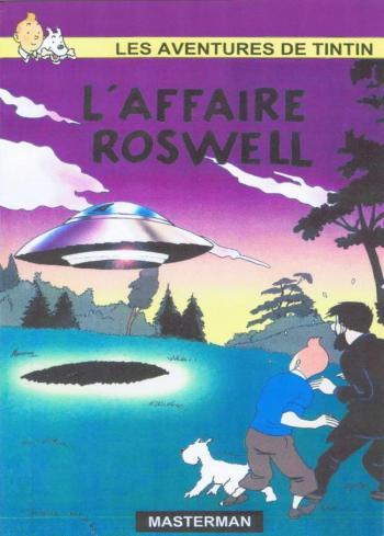 Couverture de l'album Tintin (Pastiches, parodies et pirates) - HS. L'affaire Roswell