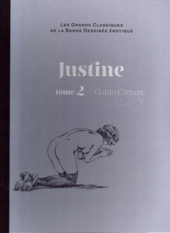 Couverture de l'album Les Grands Classiques de la bande dessinée érotique (Collection Hachette) - 65. justine 2