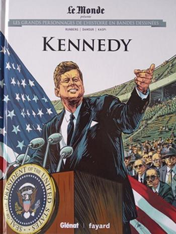 Couverture de l'album Les Grands Personnages de l'Histoire en BD - 26. Kennedy
