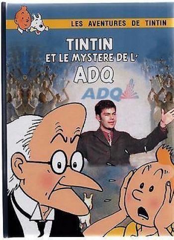 Couverture de l'album Tintin (Pastiches, parodies et pirates) - HS. Tintin et le mystère de l'ADQ