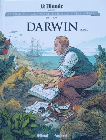 Couverture de l'album Les Grands Personnages de l'Histoire en BD - 28. Darwin - Tome 2