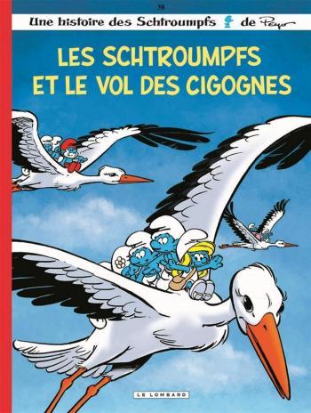 Couverture de l'album Les Schtroumpfs - 38. Les Schtroumpfs et le vol des cigognes