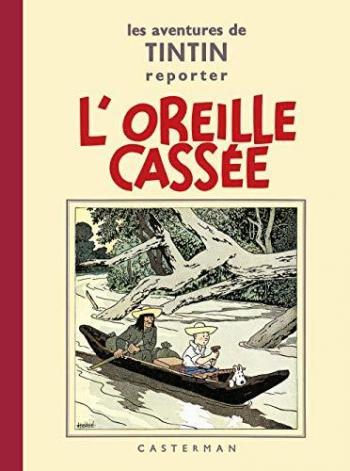 Couverture de l'album Les Aventures de Tintin (Petit format) - 6. L'Oreille cassée
