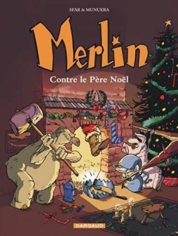 Couverture de l'album Merlin (Joann Sfar) - 2. Merlin contre le Père Noël