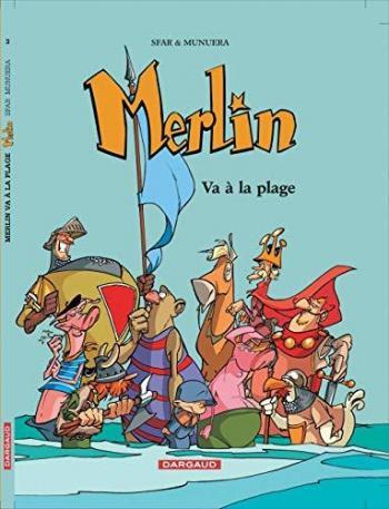 Couverture de l'album Merlin (Joann Sfar) - 3. Merlin va à la plage
