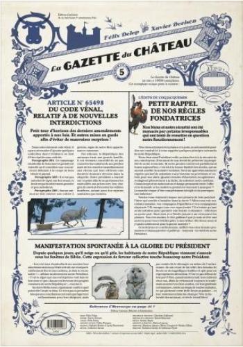 Couverture de l'album Le Château des animaux (Gazette) - 5. La gazette du château