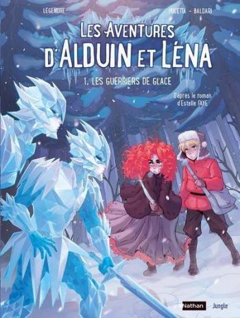 Couverture de l'album Les Aventures d'Alduin et Léna - 1. Les guerriers de glace