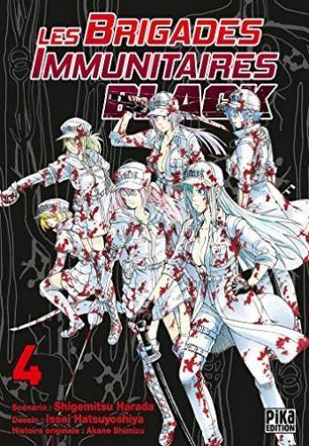 Couverture de l'album Les Brigades Immunitaires Black - 4. Retour, responsabilité, hémorroïdes