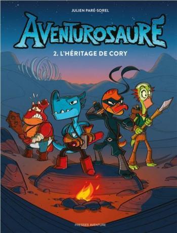 Couverture de l'album Aventurosaure - 2. L'héritage de Cory