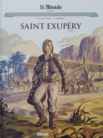 Couverture de l'album Les Grands Personnages de l'Histoire en BD - 59. Saint Exupéry - Tome 1