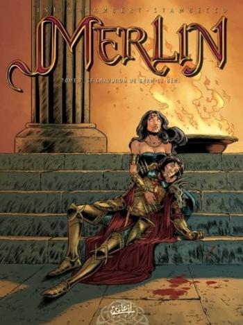 Couverture de l'album Merlin - 7. Le Chaudron de Bran-le-Béni