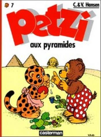 Couverture de l'album Petzi (Deuxième série) - 7. Petzi aux pyramides