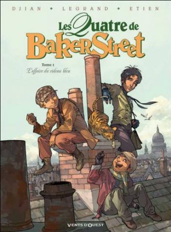 Couverture de l'album Les Quatre de Baker Street - 1. L'affaire du rideau bleu