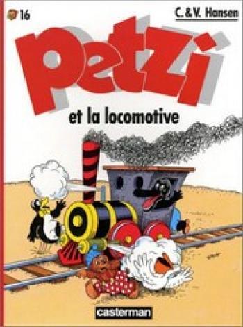 Couverture de l'album Petzi (Deuxième série) - 16. Petzi et la locomotive