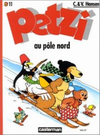 Couverture de l'album Petzi (Deuxième série) - 11. Petzi au pôle nord