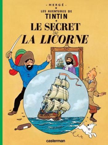 Couverture de l'album Les Aventures de Tintin (Petit format) - 11. Le Secret de la Licorne