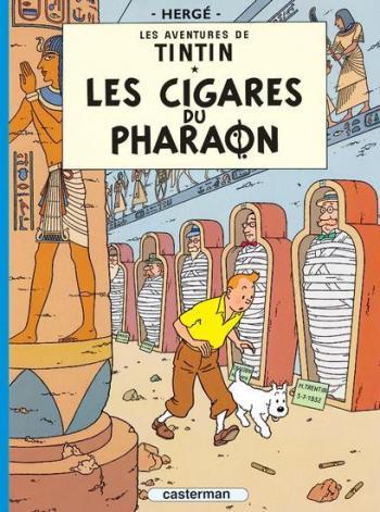 Couverture de l'album Les Aventures de Tintin (Petit format) - 4. Les Cigares du pharaon