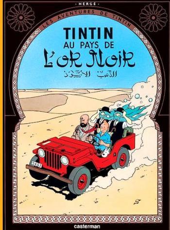 Couverture de l'album Les Aventures de Tintin (Petit format) - 15. Tintin au pays de l'or noir