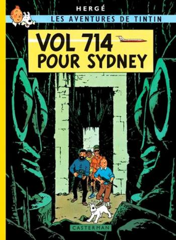 Couverture de l'album Les Aventures de Tintin (Petit format) - 22. Vol 714 pour Sydney