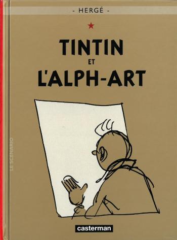 Couverture de l'album Les Aventures de Tintin (Petit format) - 24. Tintin et l'alph-art