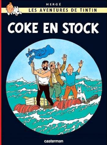 Couverture de l'album Les Aventures de Tintin (Petit format) - 19. Coke en stock