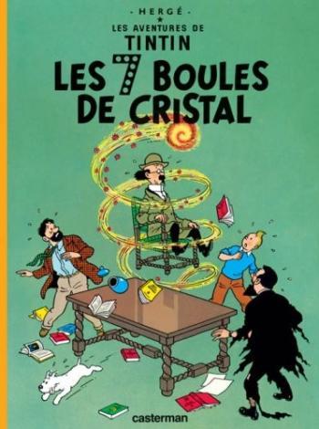 Couverture de l'album Les Aventures de Tintin (Petit format) - 13. Les 7 Boules de cristal