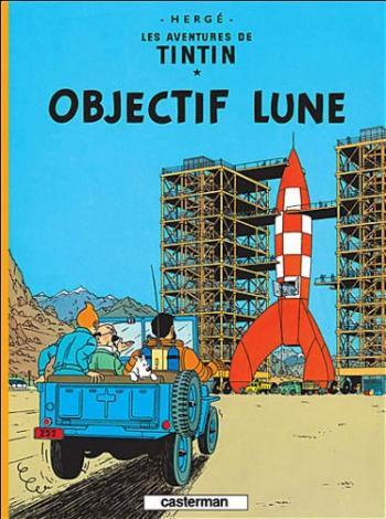 Couverture de l'album Les Aventures de Tintin (Petit format) - 16. Objectif Lune