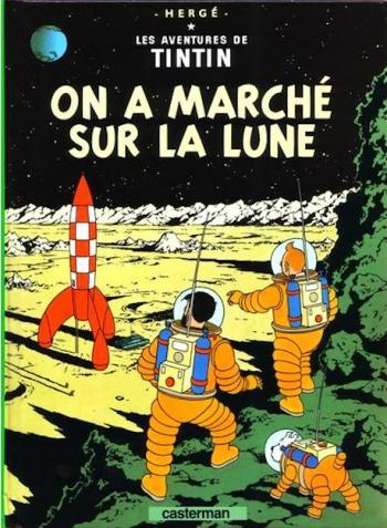 Couverture de l'album Les Aventures de Tintin (Petit format) - 17. On a marché sur la lune