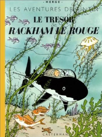 Couverture de l'album Les Aventures de Tintin - 12. Le Trésor de Rackham le Rouge