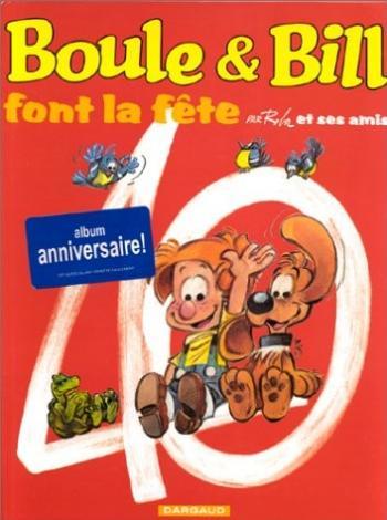 Couverture de l'album Boule & Bill (Édition spéciale 40 ans) - HS. Boule et Bill font la fête