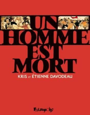 Couverture de l'album Un homme est mort (One-shot)