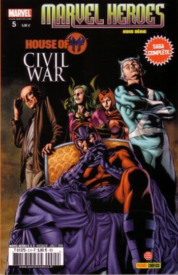 Couverture de l'album Marvel Heroes - Hors Série (V2) - 5. Civil War - House of M