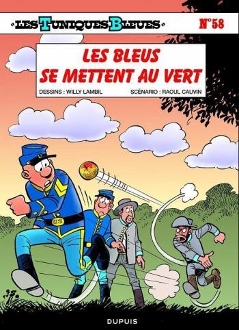 Couverture de l'album Les Tuniques bleues - 58. Les Bleus se mettent au vert