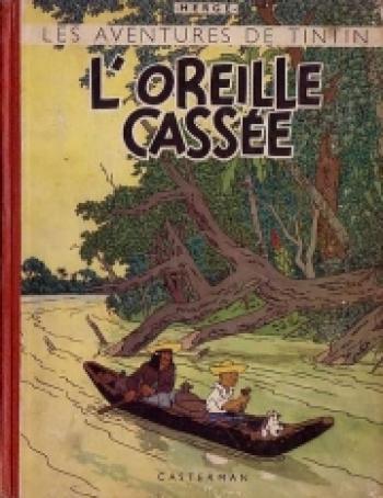 Couverture de l'album Les Aventures de Tintin - 6. L'oreille cassée