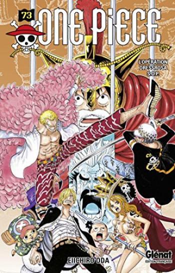 Couverture de l'album One Piece - 73. L'Opération Dressrosa S.O.P.