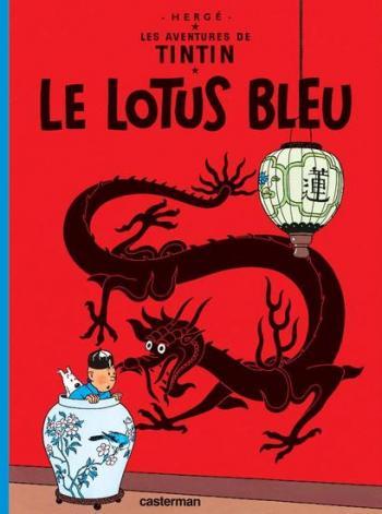 Couverture de l'album Les Aventures de Tintin (Petit format) - 5. Le Lotus bleu
