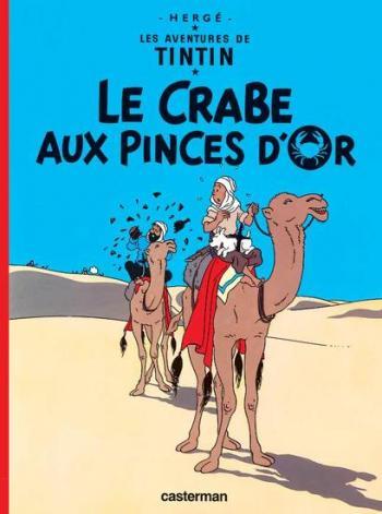 Couverture de l'album Les Aventures de Tintin (Petit format) - 9. Le Crabe aux pinces d'or
