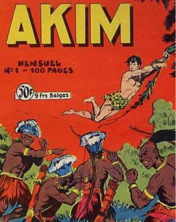 Couverture de l'album Akim - 1. Akim, fils de la jungle