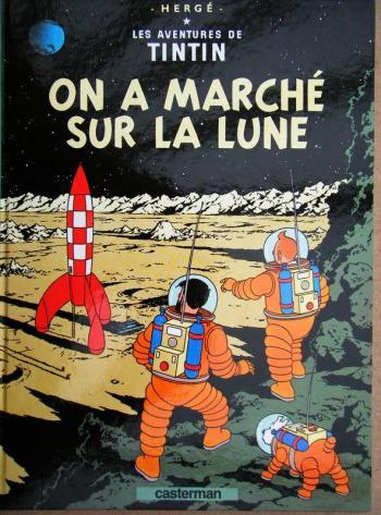 Couverture de l'album Les Aventures de Tintin - 17. On a marché sur la Lune