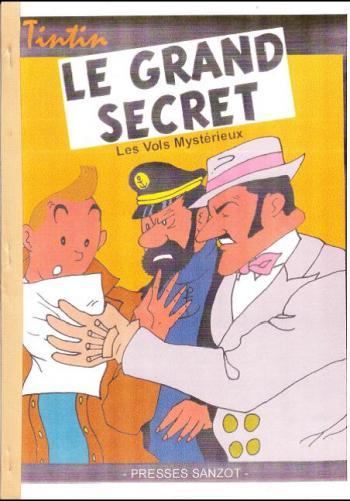 Couverture de l'album Tintin (Pastiches, parodies et pirates) - HS. Le Grand Secret