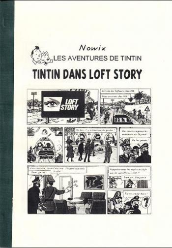 Couverture de l'album Tintin (Pastiches, parodies et pirates) - HS. Tintin dans Loft Story