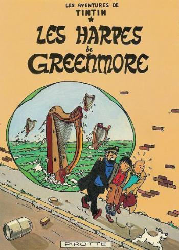 Couverture de l'album Tintin (Pastiches, parodies et pirates) - HS. Les Harpes de Greenmore
