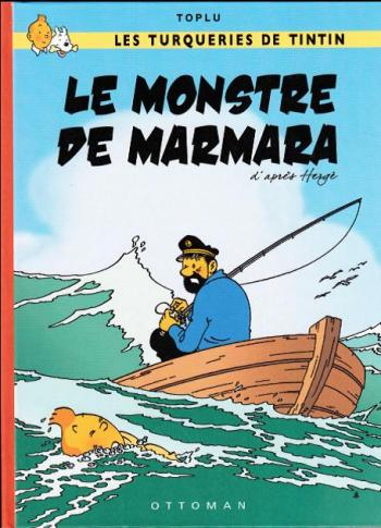 Couverture de l'album Tintin (Pastiches, parodies et pirates) - HS. Le monstre de Marmara